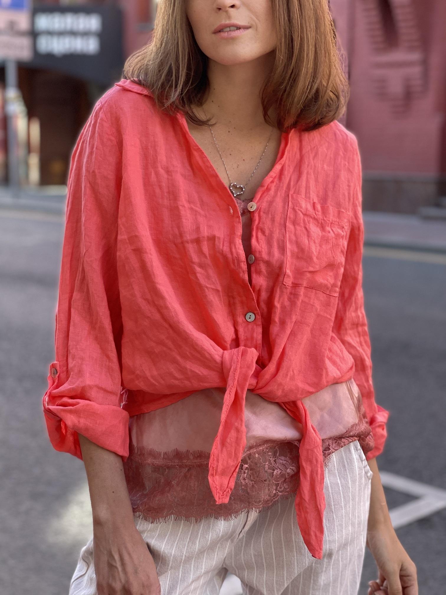 Рубашка, UNO, Easy (розовая камелия)
