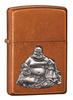 Зажигалка Zippo Будда, латунь/сталь с покрытием Toffee™, медная, матовая, 36х12x56 мм