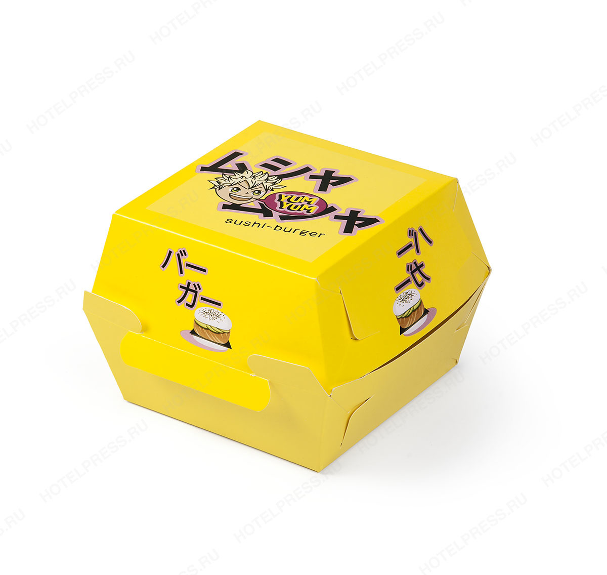 Коробка для бургера ресторана Yum Yum Sushi-burger