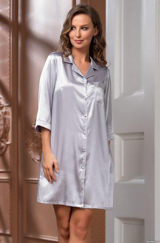 Рубашка на пуговицах MIA-Amore Julia Джулия 8737 серая