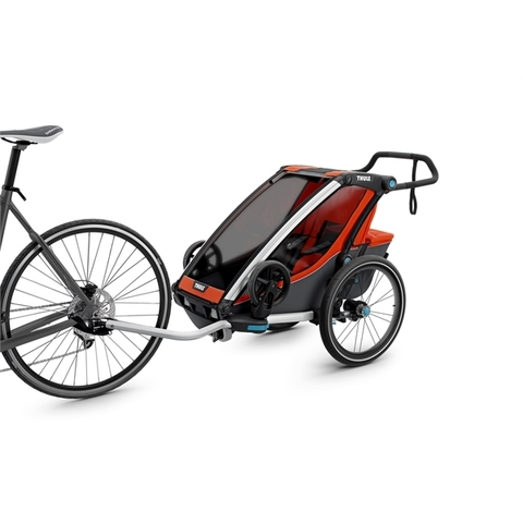 Картинка коляска Thule Chariot Cross2 темно-оранжевая  - 9