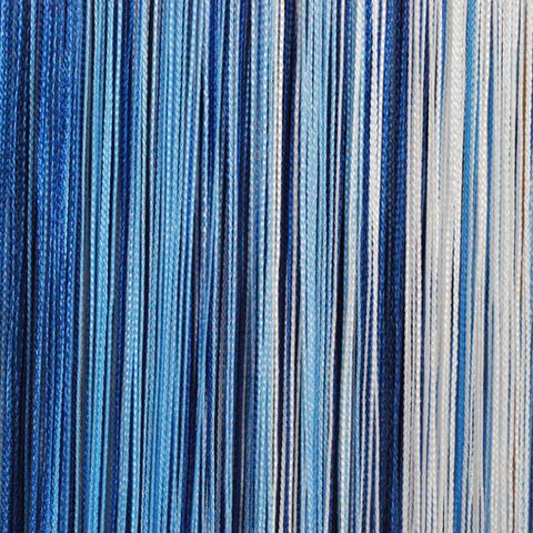 Кисея радуга Белая, голубая, синяя. Ш-300см., В-280см. Арт.626
