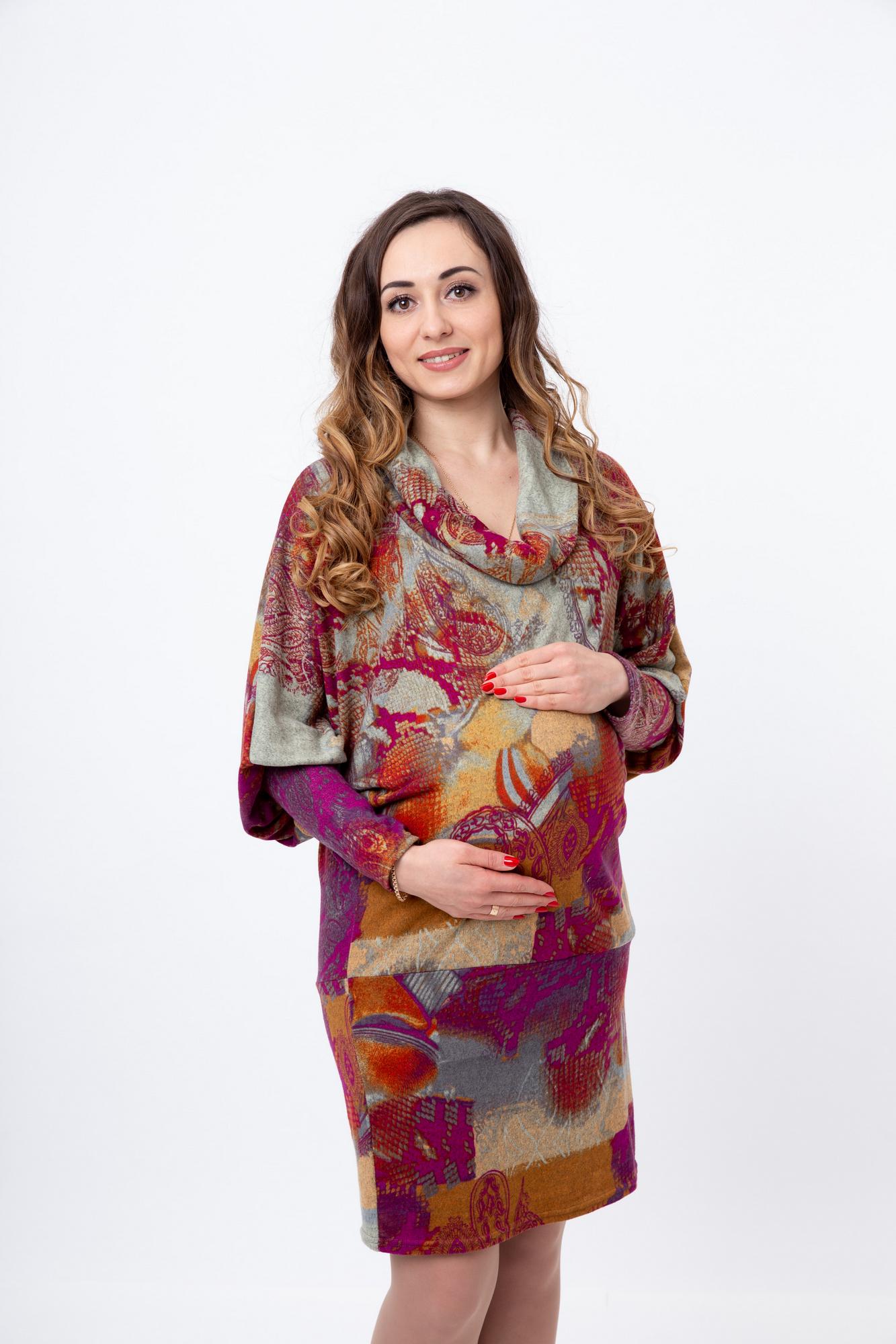 Платье для беременных 06205 фиолетовый
