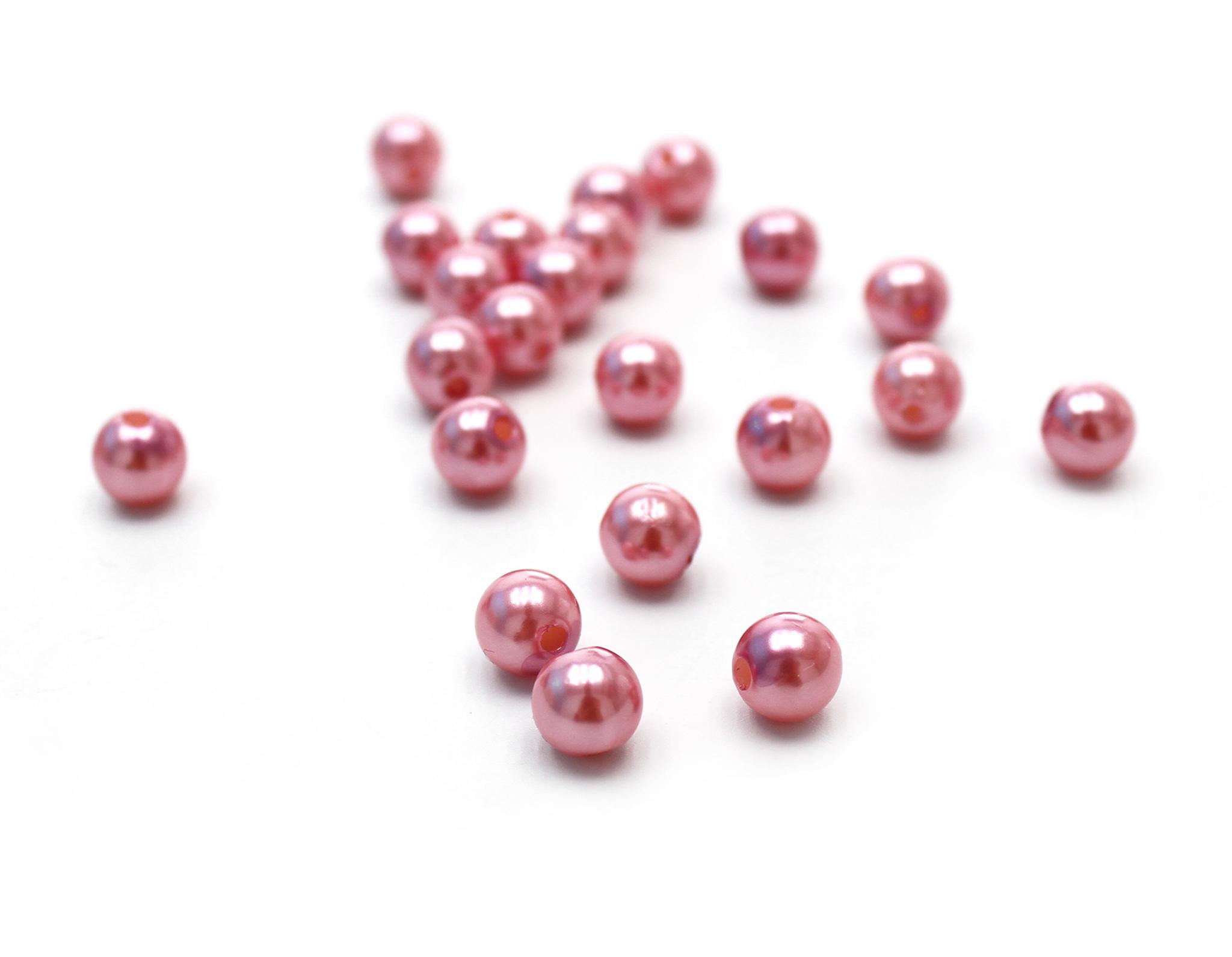 Бусинки розовые,8 мм