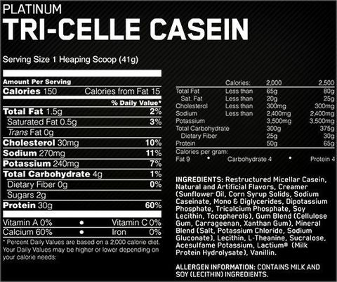 Протеин Optimum Nutrition Platinum Tri-Celle Casein