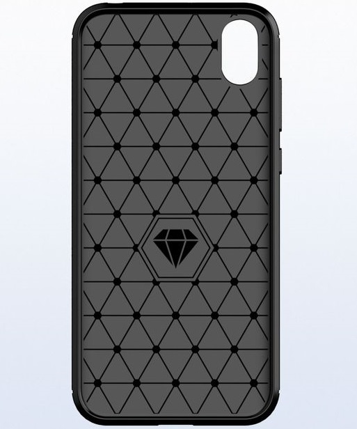 Чехол Huawei Y5 2019 (Honor 8S) цвет Gray (серый), серия Carbon, Caseport