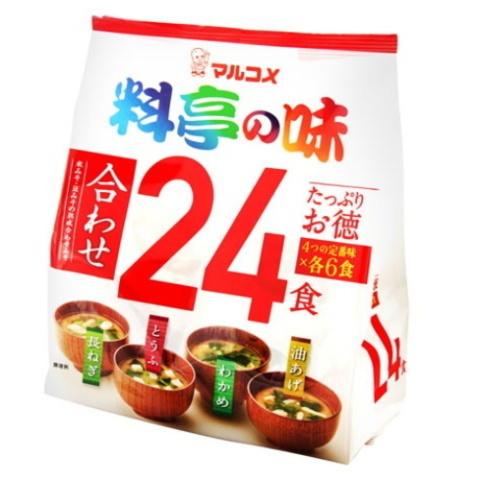 Мисо суп Марукоме Органик 4 вкуса, 24 порции