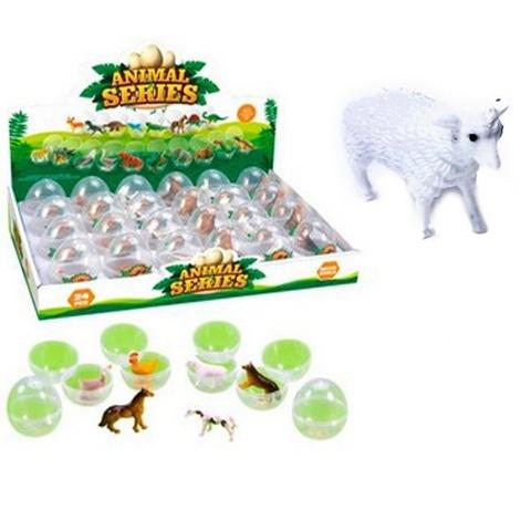 Домашние животные (24) в асортименте в яйце  в шоу-боксе, 1кор*1бл*24шт