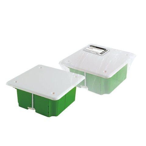 Коробка распаячная СП 92х92х45мм крышка метал.лапки TDM