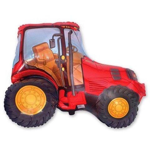 Шар фигура Трактор красный