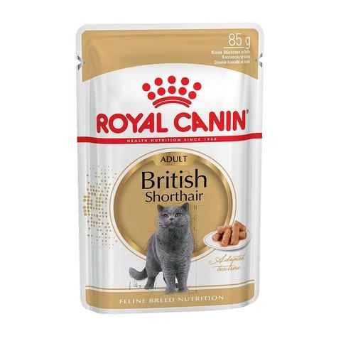 Royal Canin British Shorthair Adult пауч для кошек породы Британская короткошёрстная (соус) 85г