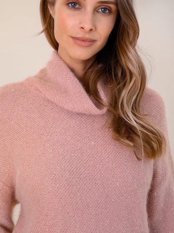 Женский свитер бежево-розового цвета из ангоры - фото 3