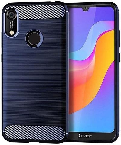 Чехол Carbon для Huawei Y6 (2019)/Honor 8A Pro серия Карбон | синий