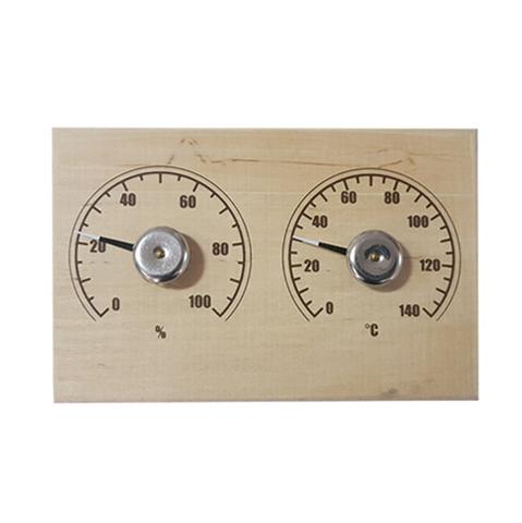 Термометр для сауны СБО-2тг банная станция+гигрометр прямоугольная