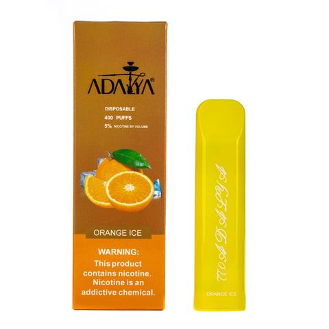 Одноразовая электронная сигарета Adalya Orange Ice 5% 400 затяжек