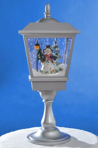 Новогоднее украшение Снежный фонарь BigSanta Gray