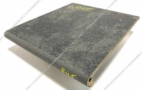 Stroeher - Keraplatte Roccia 845 nero 340x294x12 артикул 9340 - Клинкерная ступень - флорентинер