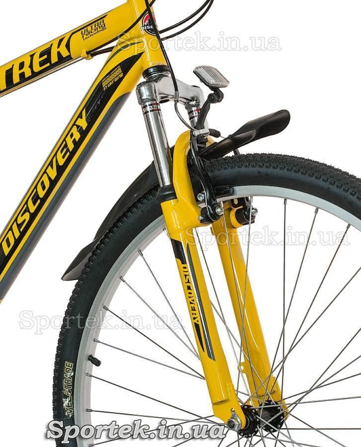 Амортизаційна вилка гірського універсального велосипеда Discovery Trek (Діскавері Трек)