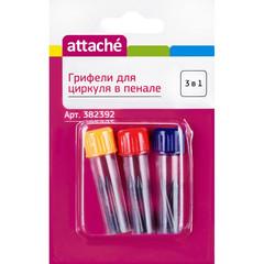 Грифели для циркуля запасные Attache в пенале (9 штук в упаковке)
