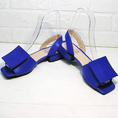Удобные сандалии женские кожаные Amy Michelle 2634 Ultra Blue.