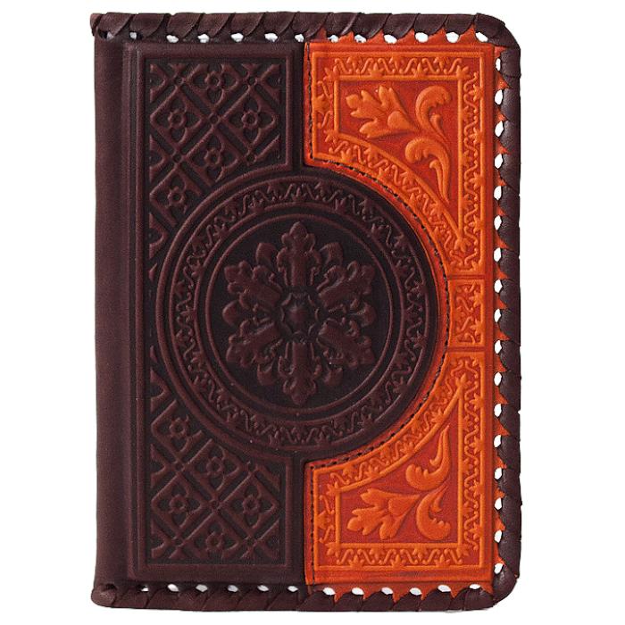 Обложка на паспорт «Венеция». Цвет коричнево-оранжевый