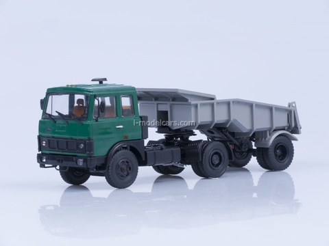 MAZ-5432 tractor green and trailer MAZ-5232V gray 1:43 AutoHistory