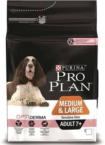 PURINA PRO PLAN Сухой корм для пожилых собак с чувствительной кожей и желудком с лососем Adult 7+ Medium&Large Sensitive Skin, 14 кг.