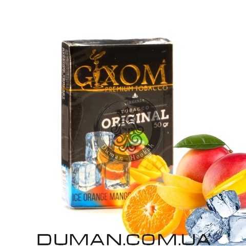 Табак Gixom Ice Orange Mango (Гиксом Лед Апельсин Манго)