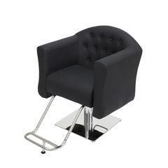 Парикмахерское кресло МД-832 гидравлика хром, квадрат хром со съемной подножкой