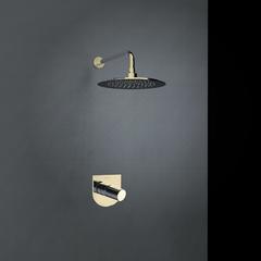 Встраиваемый смеситель для душа с душевым комплектом TZAR K3418012OC золотой, на 1 выход