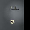 Встраиваемый смеситель для душа с душевым комплектом TZAR K3418012OC золотой, на 1 выход - фото №1