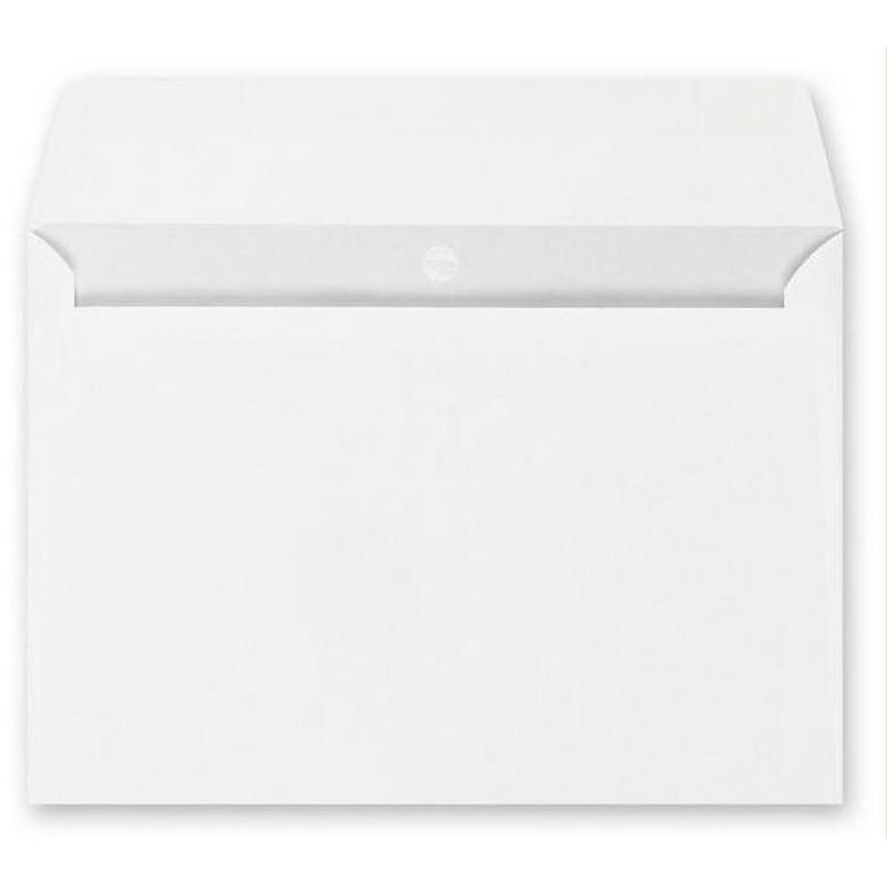 Конверт OfficePost C4 90 г/кв.м белый декстрин с внутренней запечаткой (250 штук в упаковке)