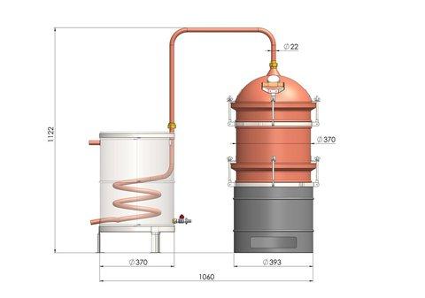 Аппарат медный для дистилляции эфирных масел DES Хобби Эфир 30 литров