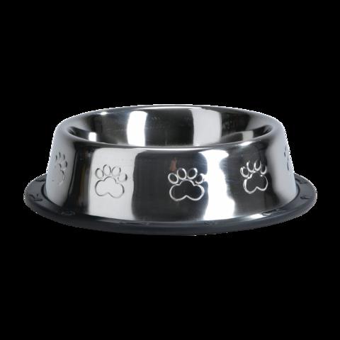 Beeztees Миска для собак стальная хромированная с лапками нескользящая