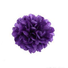 Помпон из бумаги 30 см фиолетовый