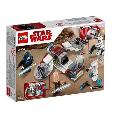 LEGO Star Wars: Боевой набор Джедаев и Клонов-Пехотинцев 75206 — Jedi and Clone Troopers Battle Pack — Лего Звездные войны Стар Ворз