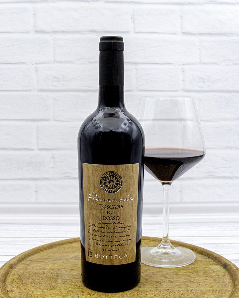 Вино Красное Сухое Bottega Флоренция Россо Тоскана 14%, 0,75 л.