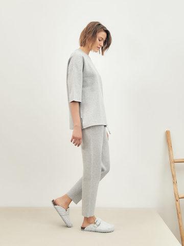 Женские брюки серого цвета из вискозы - фото 6
