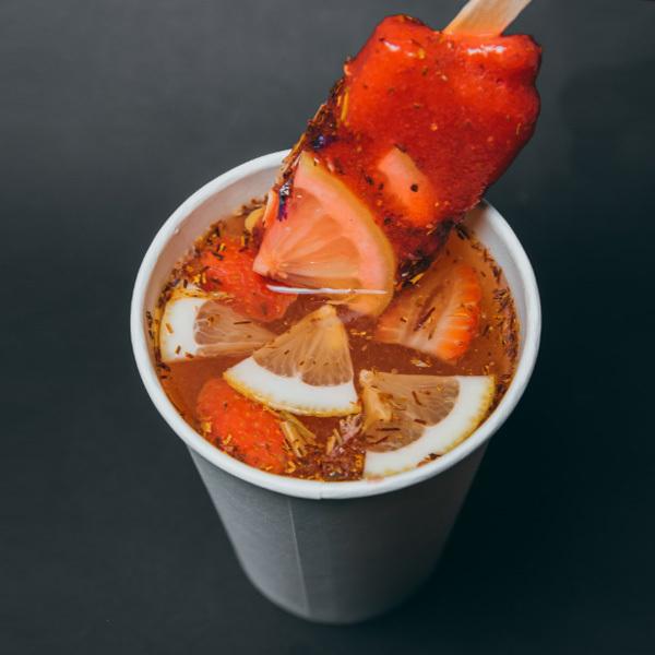Фотография Чай Ройбуш с клубникой и липой без сахара замороженный / 50 гр купить в магазине Афлора