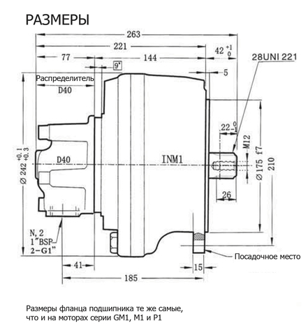 Гидромотор INM1-100