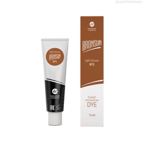 Innovator Cosmetics, Краска для ресниц и бровей Bronsun №5, светло-коричневая, 15 мл
