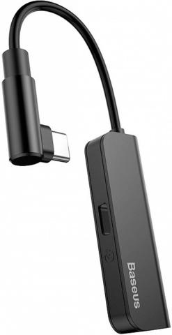 Аудио-переходник Baseus L53 Type-C Male to Type-C and 3.5 mm Female Adapter (с разъемом для зарядки) CATL53-01 Черный