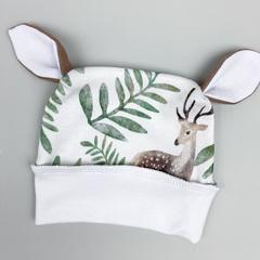 Комлект для новорожденных Олени (комбинезон+шапка)