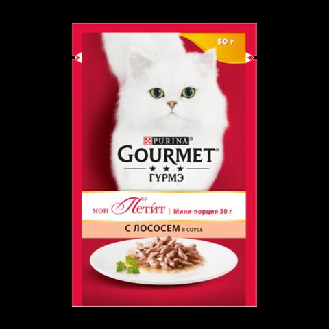 Gourmet Mon Petit Консервы для кошек с Лососем (Пауч)