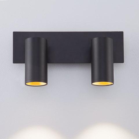 Светодиодный настенный светильник с поворотными плафонами 20066/2 LED черный/золото