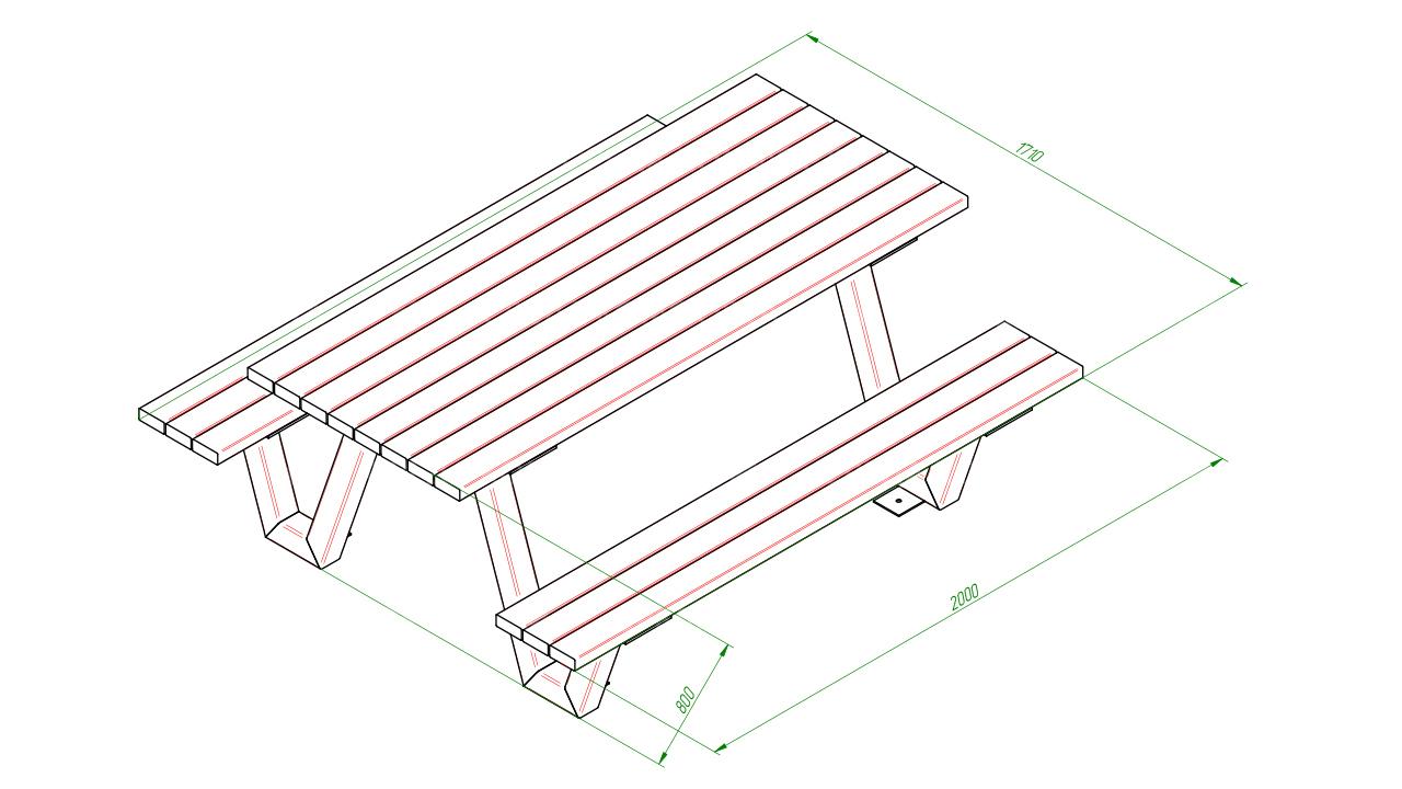 Скамейка со столом SCAM0244