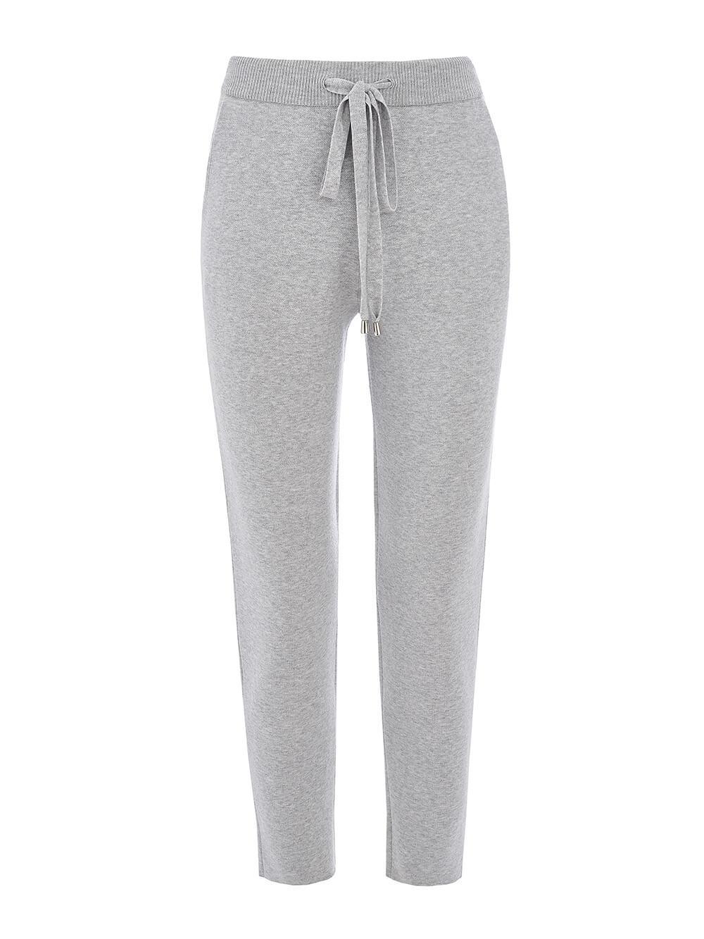 Женские брюки серого цвета из вискозы - фото 1