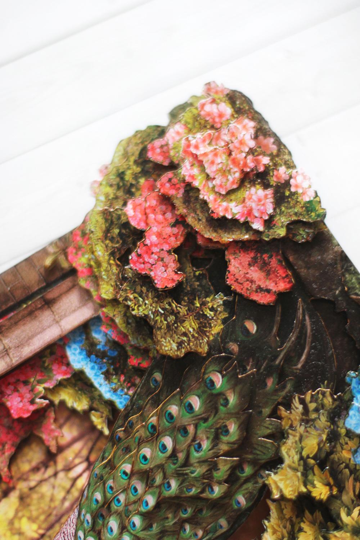 Папертоль Павлин в волшебном саду - готовая работа, детали сюжета