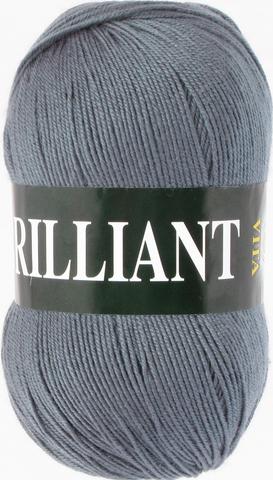 Пряжа Vita Brilliant темно-серый 4980