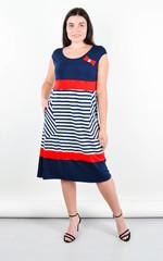 Бант. Повсякденна сукня великих розмірів. Смуга.
